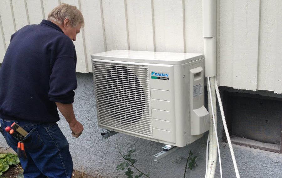 montering av varmepumpe